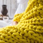 XXL Throw Blanket - Knitting Kit – Miniature 4