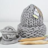 Chunky Hat MAXI PLUS - Knitting Kit – Miniature 1