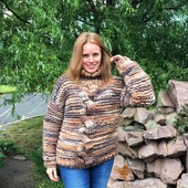 Chunky Cable Knit Sweater - High Neck – Miniature 3