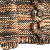Chunky Cable Knit Sweater - High Neck – Miniature 6