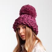 Chunky Knit Hat with XXL Pom Pom – Miniature 2