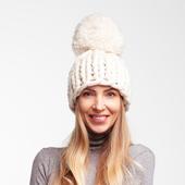 Chunky Pom Pom Knit Beanie – Miniature 3