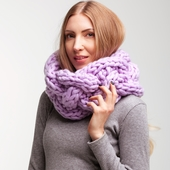 Chunky Knit Сable Cowl – Miniature 1