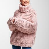 Oversized Turtleneck Sweater – Miniature 1