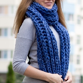 Chunky Scarf OCEAN - Knitting Kit