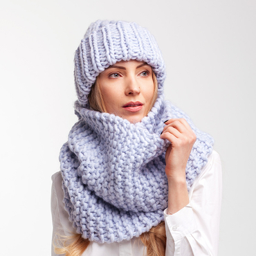 Infinity scarf hat