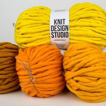 yellow bulk chunky yarn