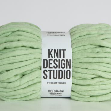 green chunky wool _ extra large yarn