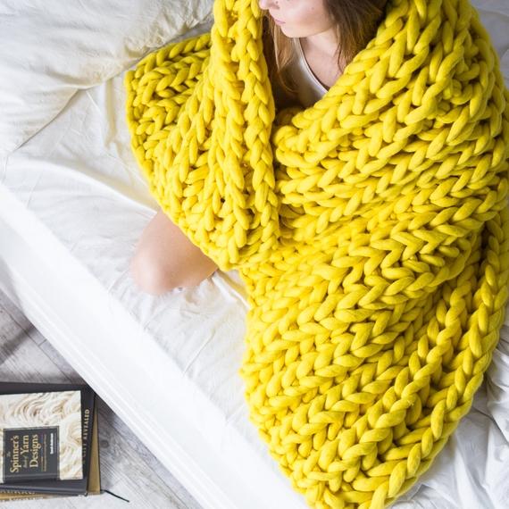 XXL Throw Blanket - Knitting Kit – Photo 1
