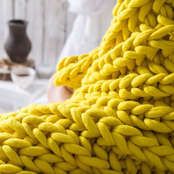 XXL Knit Throw Blanket – Photo 4