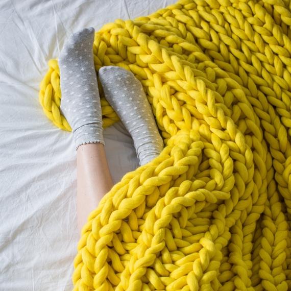 XXL Throw Blanket - Knitting Kit – Photo 2