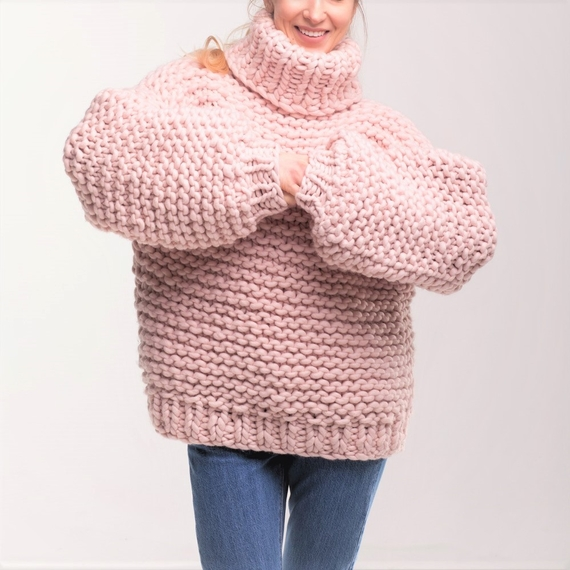 Oversized Turtleneck Sweater – Photo 7