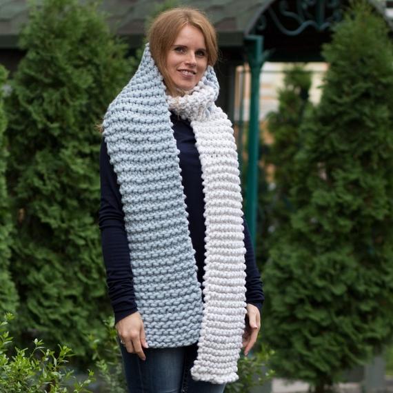 AMAZON Two-Сolored Scarf - Knitting Kit – Photo 4