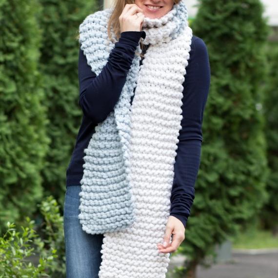 AMAZON Two-Сolored Scarf - Knitting Kit – Photo 1