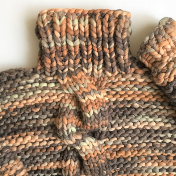 Chunky Cable Knit Sweater - High Neck – Photo 5
