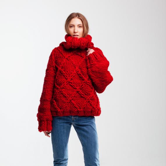 Drop Shoulder Oversized Sweater DIAMOND – Photo 2