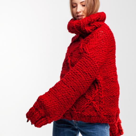 Drop Shoulder Oversized Sweater DIAMOND – Photo 3