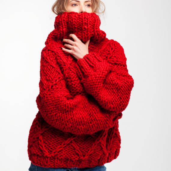 Drop Shoulder Oversized Sweater DIAMOND – Photo 4