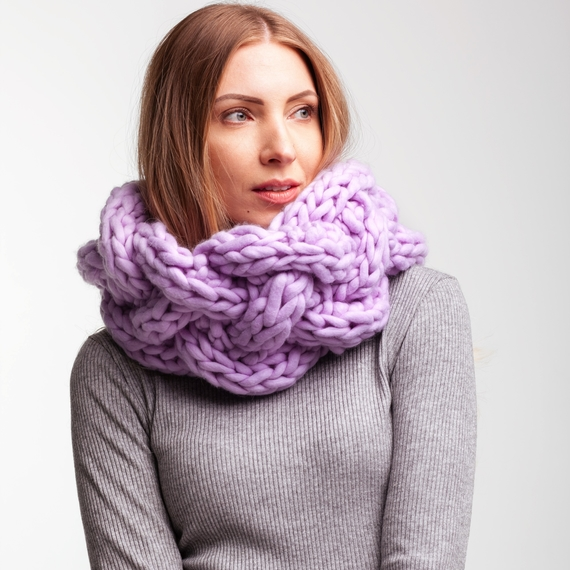 Chunky Knit Сable Cowl – Photo 2