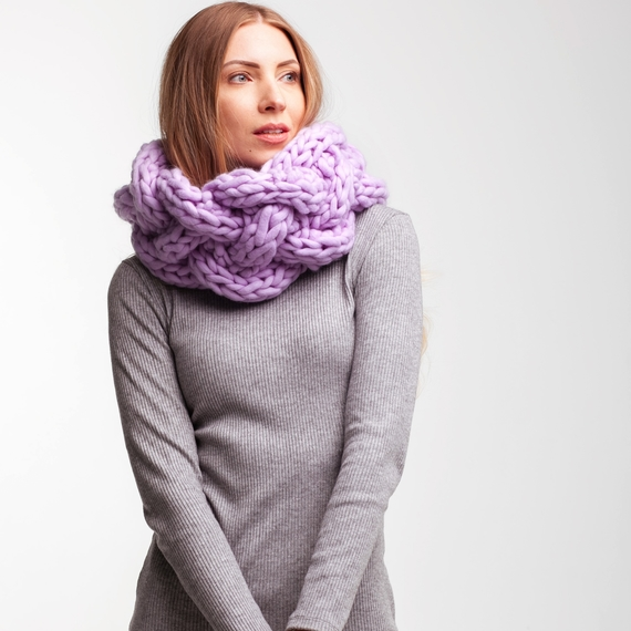 Chunky Knit Сable Cowl – Photo 3