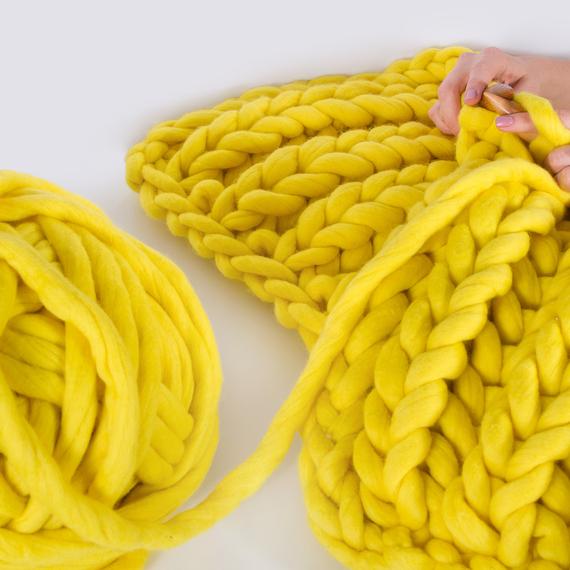 XXL Throw Blanket - Knitting Kit – Photo 3