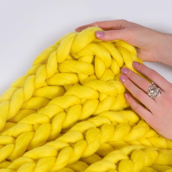 XXL Throw Blanket - Knitting Kit – Photo 5