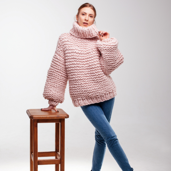Oversized Turtleneck Sweater – Photo 8
