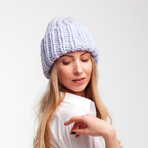 Light blue winter hat