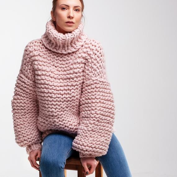 Oversized Turtleneck Sweater – Photo 5